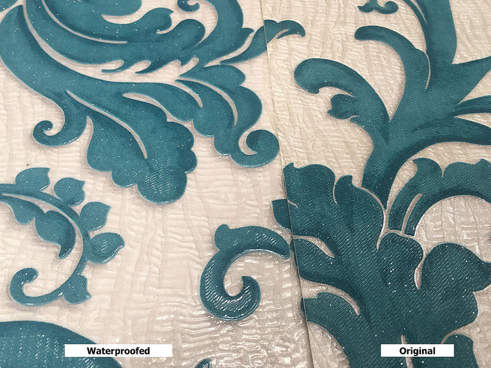 Contoured Wallpaper Waterproofed